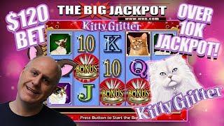$120 SPINS 🙀OVER 10 THOUSAND JACKPOT 💸KITTY GLITTER BONUS ROUND!