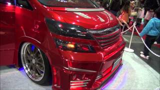 red Vellfire at Lstyle booth/ 赤いヴェルファイア