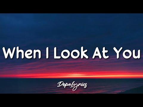 When I Look At You - Miley Cyrus (Lyrics) | TikTok Male Version
