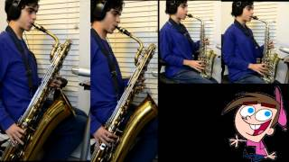Fairly Oddparents Theme Song Intro Cover: Alto+Baritone Saxophone Arrangement