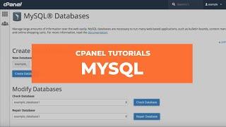 cPanel's MySQL Interface thumbnail