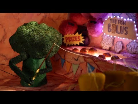 Broccoli takes a magical journey in the trailer for Mary Roach's new book