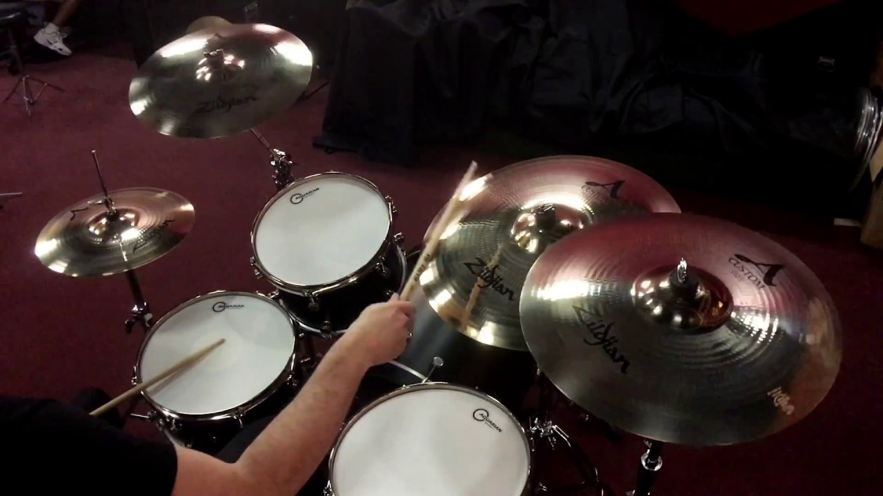 zildjian a custom cymbal pack free 18 a custom crash youtube. Black Bedroom Furniture Sets. Home Design Ideas