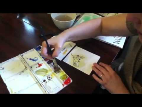 Adding watercolor to your nature journal
