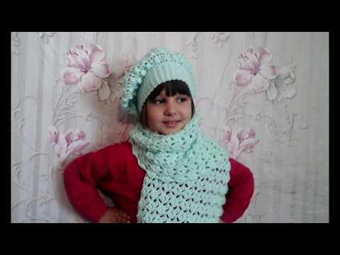Детский снуд-шарф с градиентом в 1 оборот. Вязание спицами. - YouTube