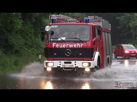 [AUSNAHMEZUSTAND NACH UNWETTER] - Unzählige Einsätze nach Starkregen in der Region Düsseldorf -