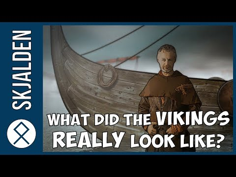 What did the Vikings look like in the Viking age?