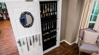 How to DIY a Built-In Jewelry Organizer