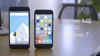 Vernee M5 VS iPhone 7, performance testing.