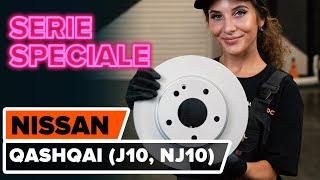 Come cambiare Set dischi freni NISSAN QASHQAI / QASHQAI +2 (J10, JJ10) - video tutorial