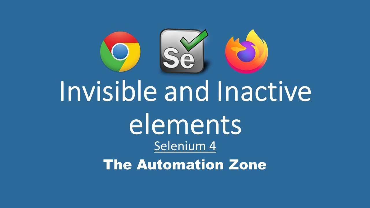 Invisible and Inactive elements - Selenium 4 Tutorials