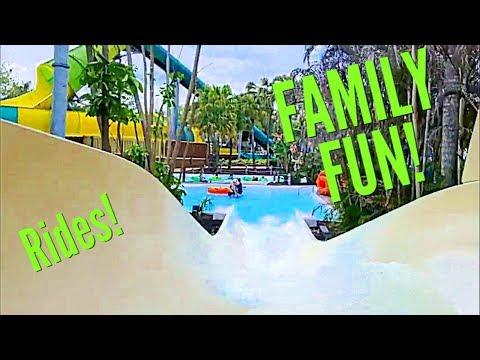 ADVENTURE ISLAND Tampa Florida | Water Park | Theme Park Rides