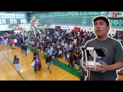 FLYING DRONE INSIDE HIGH SCHOOL(BAD IDEA)| JCE TV