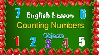 English Lesson About Counting Numbers And Objects 1-20