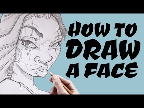 How to Draw a Face   Art Tutorial thumbnail