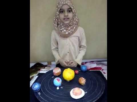 Solar system model by. Uzma kauser