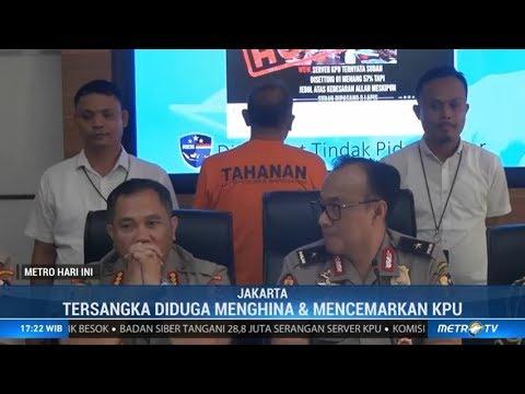 Polisi Tangkap Penyebar Hoaks Server KPU Bocor