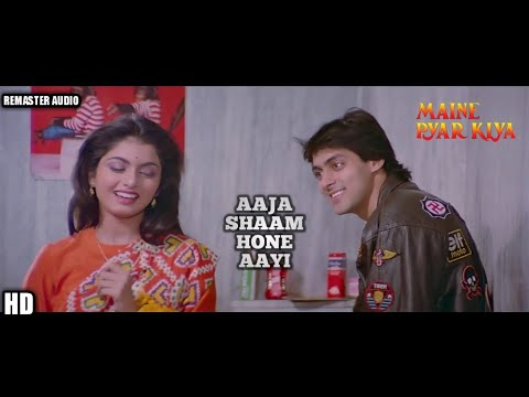 Aaja shaam hone aayi - maine pyar kiya (1989) *hd* remaster audio