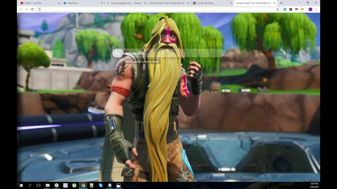 Bunker Jonesy Like Thor Fortnite Skin Wallpaper Chrome Theme Youtube