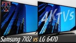 Samsung NU7102 vs LG UK6470 Smart TV