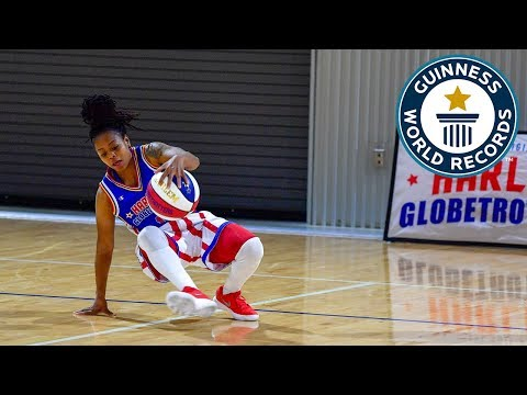 Most basketball under the leg tumbles in one minute (female) – Guinness World Records Day 2018