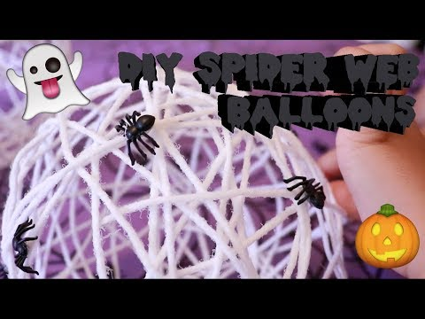 DIY SpiderWeb Balloons
