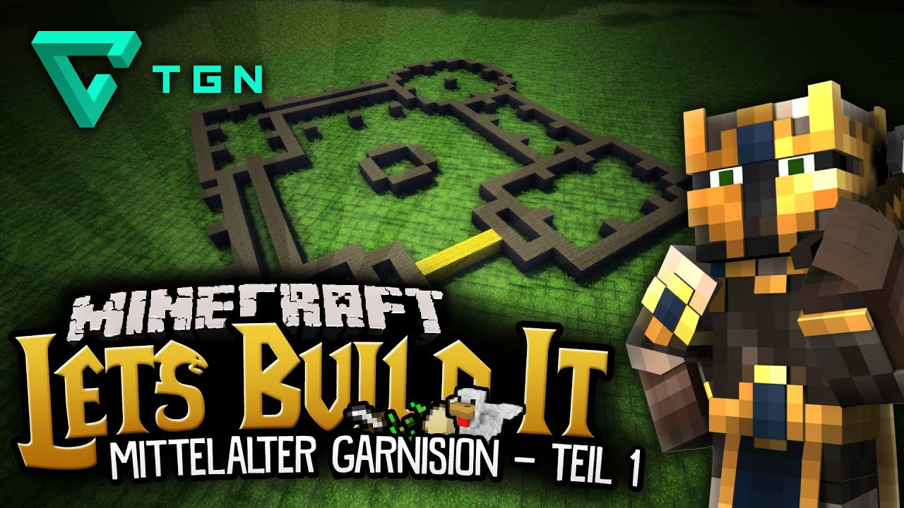 Mittelalter Garnison Teil Minecraft Lets Build Projekt YouTube - Minecraft haus bauen grob