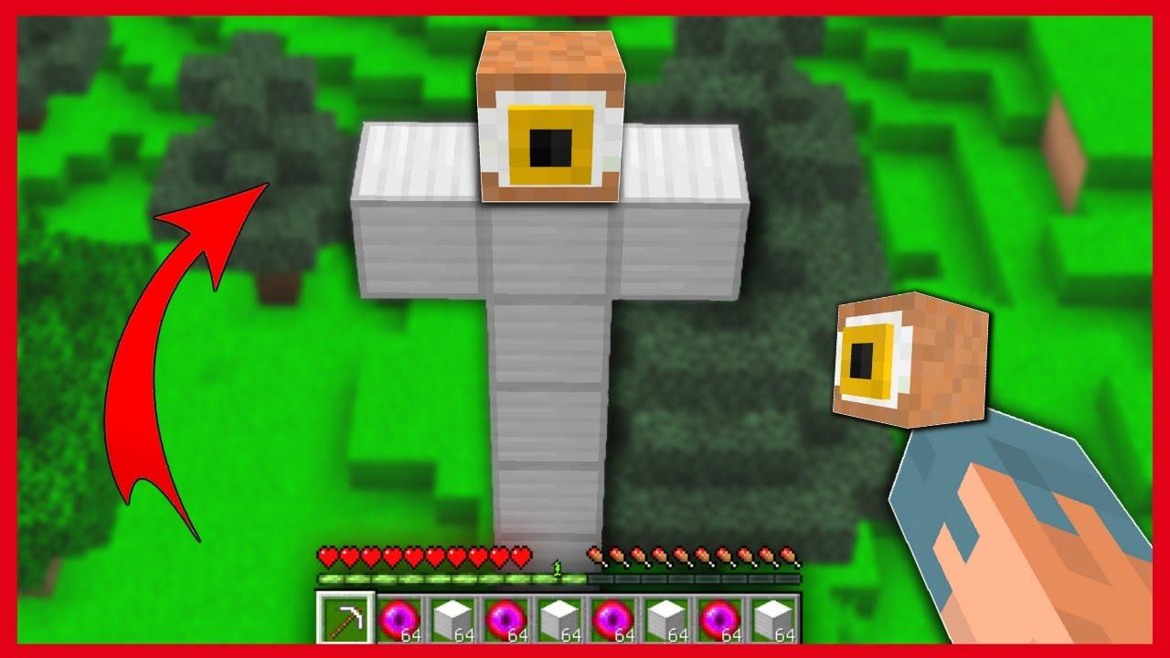 EN UZUN TEPEGÖZ YAPARSAK NE OLUR? 😱 - Minecraft