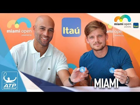 Goffin, Blake Help Conduct Miami Draw Ceremony 2018