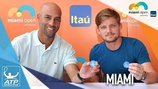 Goffin, Blake Help Conduct Miami Draw Ceremony 2018