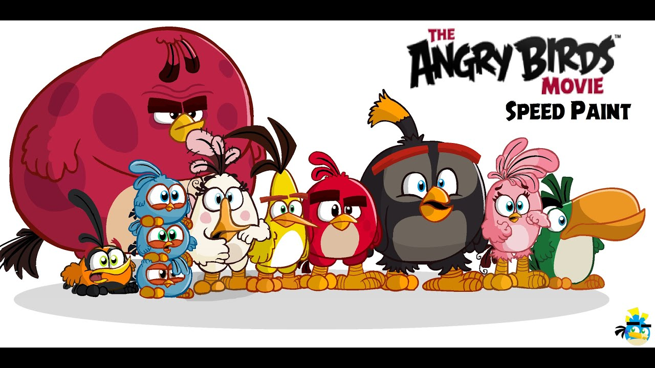 Red Angry Bird Movie Characters