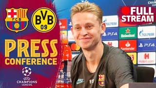 FULL STREAM | De Jong & Valverde's press conference ahead of Barça-Borussia Dortmund