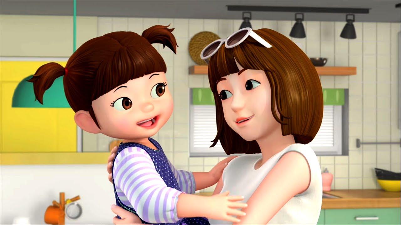 👨👩👧👧 Большой сборник серий про семью Консуни 🌻☀️🏞️🌴 - мультфильм для девочек -  Консуни