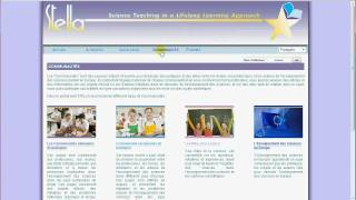 Présentation du portail web du projet STELLA