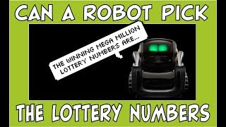 Can Vector the Robot Pick Tonight's Mega Million Lottery Numbers? | #HeyVector