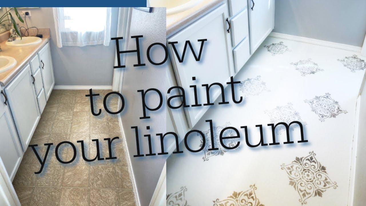 How to paint your Vinyl floor How to paint floors
