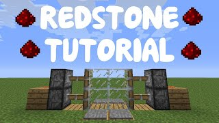 How to make a 2x2 simple piston door in minecraft