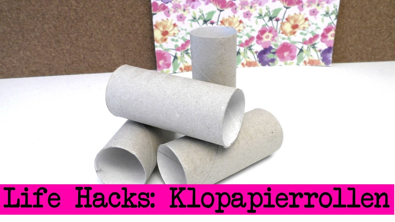 lifehacks klopapierrollen kreative ideen mit klopapierrollen diy ideen youtube. Black Bedroom Furniture Sets. Home Design Ideas