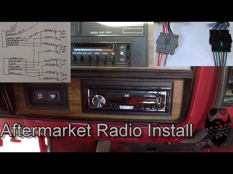 1992 Dodge D250 Cummins diesel JVC Radio Install(Including wiring diagram  and harness build) - YouTubeYouTube