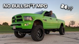 What MPG Do LIFTED DIESELS Really GET?!? *You'll Never Guess*
