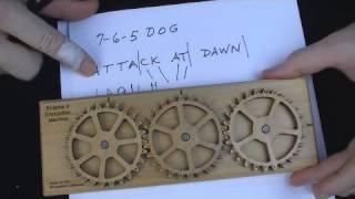 Enigma II Encryption Machine & Puzzle - encode & decode cipher