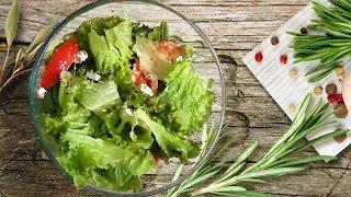 легкий салат с фетой и помидорами за 5 минут / light salad for 5 minutes with feta and tomatoes