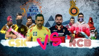 ||CSK VS RCB||FIRST EVER FREE FIRE×IPL||BY FK GAMING FAMILY||