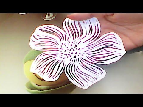 Papercraft Paper Cutting Art Flower - Kağıt Kesme Sanatı Çiçek