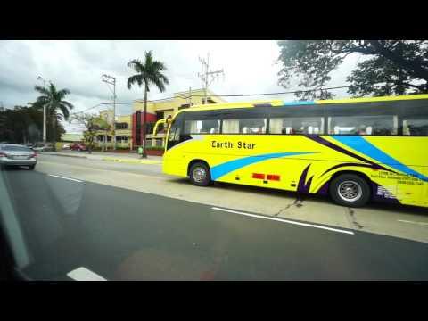 Philippines, FX ride in Metro Manila (right window view)