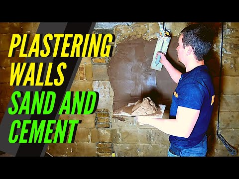 Plastering Walls With Sand Cement (WALL PLASTERING TUTORIAL/ STUCCO/ SAND & CEMENT PLASTERING)