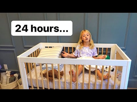 SPENDING 24 HOURS IN MY BABY BROTHERS CRIB...