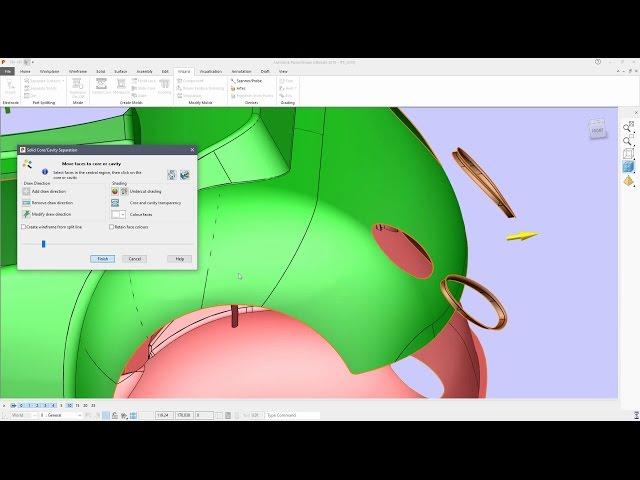 Example Ribbon Workflow - PowerShape 2018