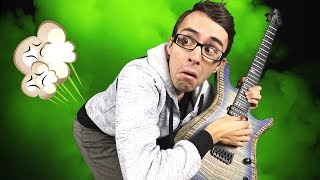 Covering up farts with guitar playing!