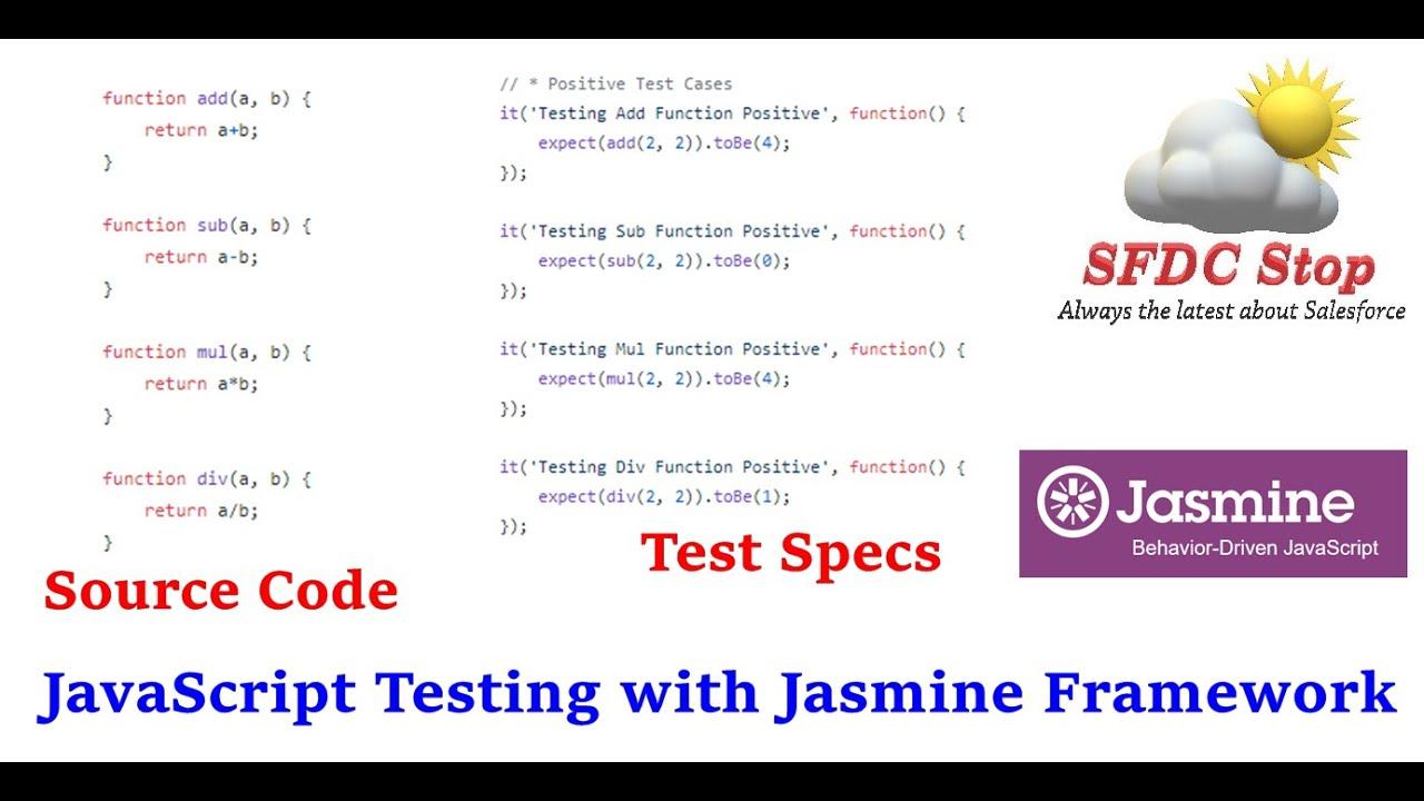 JavaScript Testing with Jasmine Framework   JavaScript Tutorial